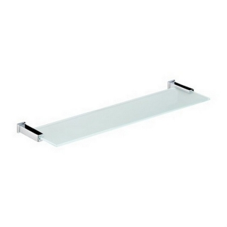 Bristan Qube Frosted Glass Shelf Chrome Plated QU SHELF C