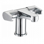 Image for Bristan Quest - Basin Tap - Deck Mounted Monobloc (2 Handle, With Clicker Waste) - Chrome - QST BAS2 C