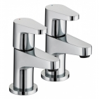Image for Bristan Quest - Basin Tap - Deck Mounted Pillar (Pair) - Chrome - QST 1/2 C