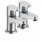 Image for Bristan Quest - Bath Tap - Deck Mounted Pillars (Pair) - Chrome - QST 3/4 C