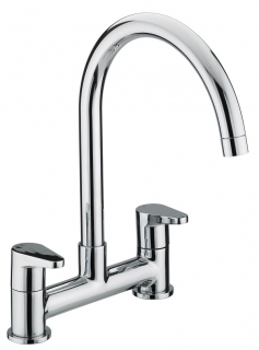 Bristan Quest Deck Sink Mixer Chrome Plated QST DSM C