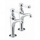 Image for Bristan Renaissance High Neck Pillar Taps Chrome Plated RS HNK C