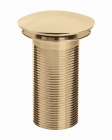 Bristan Round Clicker Basin Waste Unslotted - Gold W BASIN05 G
