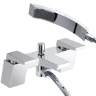 Image for Bristan Sail - Bath Tap - Deck Mounted Bath Shower Mixer - Chrome - SAI BSM C