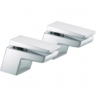Image for Bristan Sail - Bath Tap - Deck Mounted Pillar (Pair) - Chrome - SAI 3/4 C