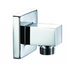 Image for Bristan Shower Wall Outlet Square Chrome ARM WOSQ01 C