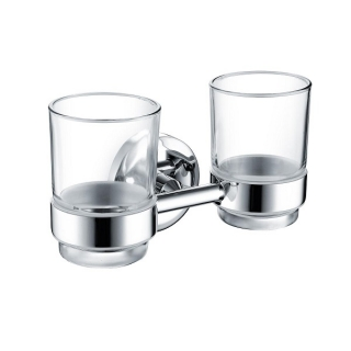 Bristan Solo Double Tumbler and Holder Brass Chrome Plated SO DHOLD C