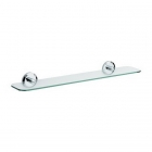 Image for Bristan Solo Glass Shelf Chrome Plated SO SHELF C