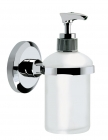 Image for Bristan Solo Wall Mounted Frosted Glass Soap Dispenser SO SOAP C