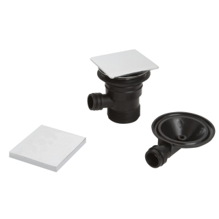 Bristan Square Clicker Bath Waste with Overflow W BATH04 C