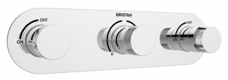 Bristan Tria Recessed Thermostatic Dual Control Shower Valve TRI SHC3STP C