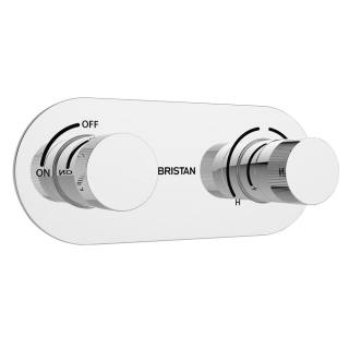 Bristan Tria Recessed Thermostatic Dual Control Shower Valve TRI SHCVO C