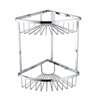 Image for Bristan Two Tier Corner Fixed Wire Basket COMP BASK06 C
