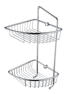 Bristan Two Tier Wall Fixed Wire Basket COMP BASK07 C