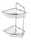 Image for Bristan Two Tier Wall Fixed Wire Basket COMP BASK07 C