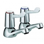 Image for Bristan Value Lever - Basin Tap - Deck Mounted Pillar (Pair) - Chrome - VAL 1/2 C CD