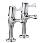 Image for Bristan Value Lever High Neck Pillar Taps VAL HNK C 6 CD