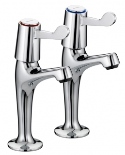Bristan Value Lever High Neck Pillar Taps VAL HNK C 6 CD