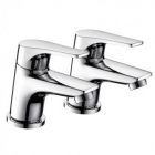 Image for Bristan Vantage - Basin Tap - Deck Mounted Pillar (Pair) - Chrome - VT 1/2 C