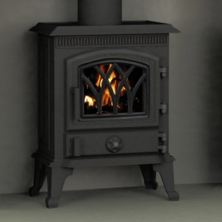 Broseley Hillandale Monroe 5 Solid Fuel Stove - Metallic Black