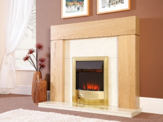 Celsi Accent Infusion Brass Electric Fire