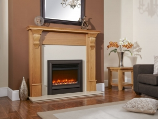 "Celsi Electriflame 16"" Oxford Black Electric Fire"