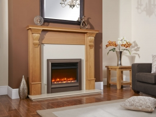 "Celsi Electriflame 22"" Oxford Brown Electric Fire"