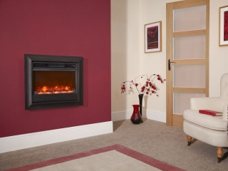 "Celsi Electriflame 22"" Oxford Wall Mounted Black Electric Fire"