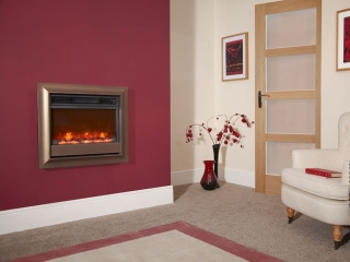 "Celsi Electriflame 22"" Oxford Wall Mounted Brown Electric Fire"