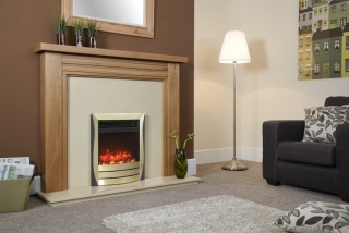 Celsi Electriflame Lamela Black / Brass Electric Fire