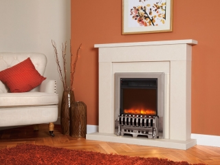 Celsi Electriflame Royale Silver Electric Fire