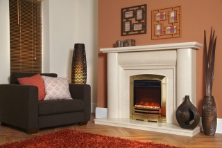 Celsi Electriflame XD Decadence Gold Electric Fire