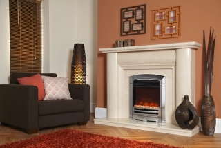 Celsi Electriflame XD Decadence Silver Electric Fire