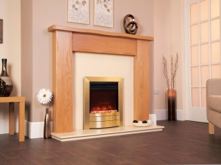 Celsi Electriflame XD Essence Satin Brass Electric Fire