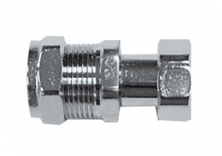 Primaflow Chrome Compression Straight Tap Connectors