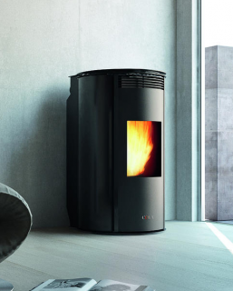 Cola Wave Glass Ductable Pellet Air Stoves