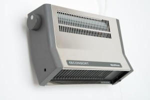 Consort Downflow White 2kW Fan Heater - Metal Bodied
