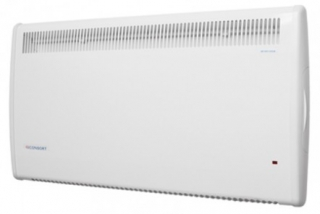 Consort Manually Controlled White Panel Heaters - Thermostat, Switches & Timer