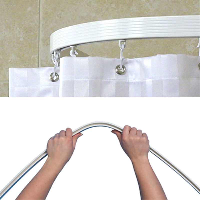 Unusual Flexible Shower Curtain Rail Ideas Bathtub For Bathroom Ideas