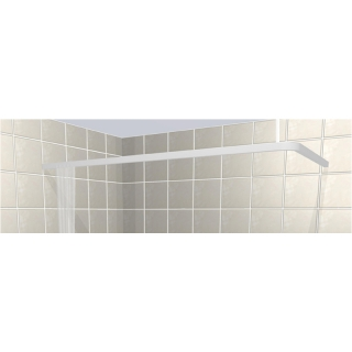 Contour L-Shaped Rectangular Shower Curtain Rails