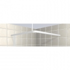 Image for Contour L-Shaped Square Shower Curtain Rail - 1200mm x 1200mm