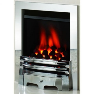 Crystal Fires Diamond Coal Chrome Inset Gas Fire