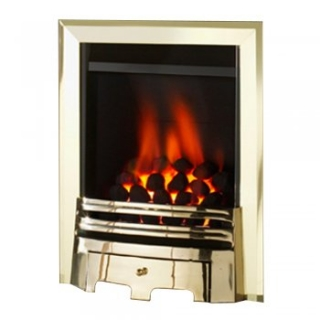 Crystal Fires Montana High Efficiency Inset Gas Fire with Brass Grace Fret