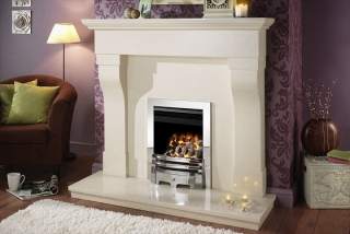 Crystal Fires Montana High Efficiency Inset Gas Fire with Chrome Grace Fret