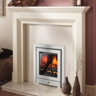 Crystal Fires Montana Royale 3 Sided Chrome Inset Gas Fire