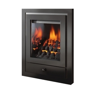 Crystal Fires Montana Royale 4 Sided Black Inset Gas Fire