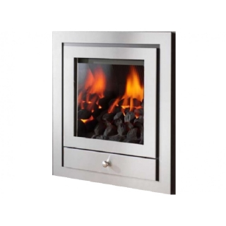 Crystal Fires Montana Royale 4 Sided Brushed Steel Inset Gas Fire