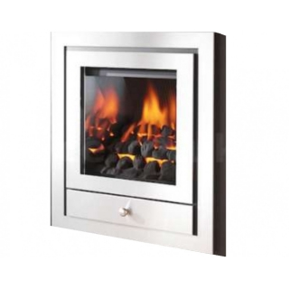 Crystal Fires Montana Royale 4 Sided Chrome Inset Gas Fire