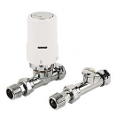 Image for Danfoss Ras-D2 TRV Combi Pack 10mm/15mm (Chrome & White) Straight