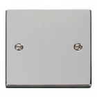 Image for Deco 1 Gang Blanking Plate Polished Chrome - VPCH060